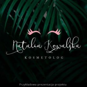 logo różowe rzęsy dla kosmetyczki