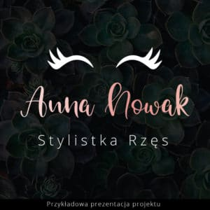 logotyp rzęsy dla stylistki rzęs