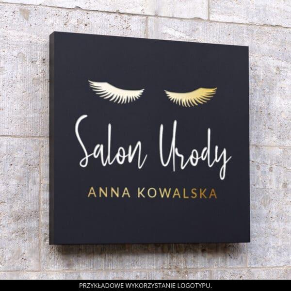 logotyp dla stylistki rzęs