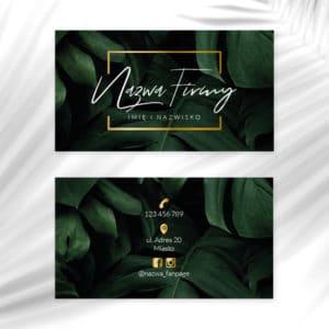 wizytówki z monsterami i złotym logotypem dla kosmetologa