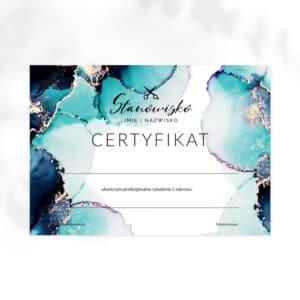 certyfikat dla fryzjerki