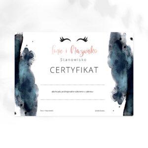 certyfikat na szkolenia dla stylistki rzęs