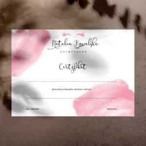 certyfikaty z rzęsami na szkolenia z makijażu permanentnego