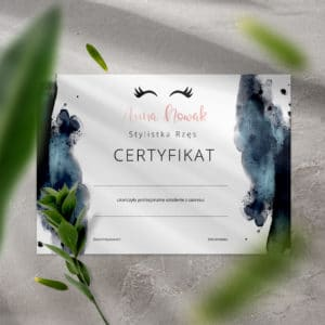 certyfikaty z rzęsami na szkolenia make up
