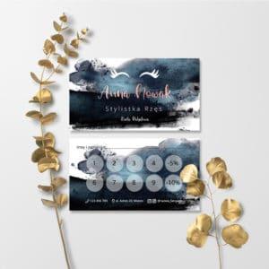karty rabatowe z rzęsami dla makeup artist