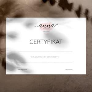 minimalistyczne certyfikaty na szkolenia dla fryzjerów