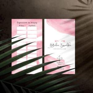 terminarzyki w różowe plamy dla stylistki rzęs