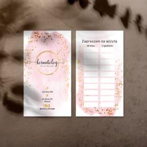 terminarzyk dla stylistki paznokci różowo złoty