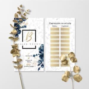 marmurkowe terminarzy z kwiatami do gabinetu kosmetycznego