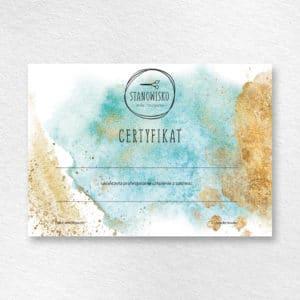 miętowy certyfikat na szkolenia dla fryzjerów