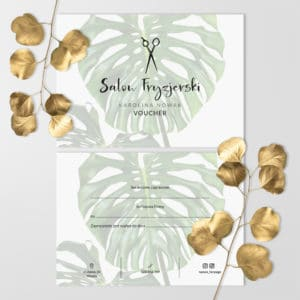 monstera voucher do salonu fryzjerskiego
