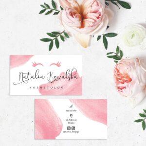 wizytówki dla mobilnej kosmetyczki