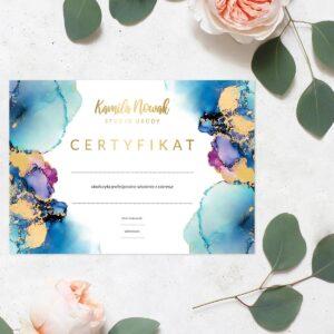 Certyfikat dla stylistki paznokci