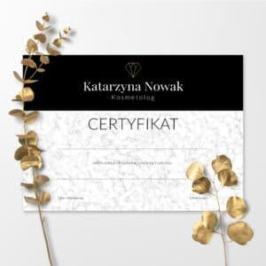 certyfikaty w stylu glamour na szkolenia i warsztaty