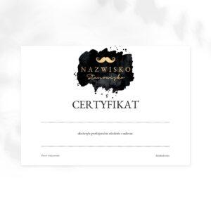 certyfikat ukończenia szkolenia dla barbera