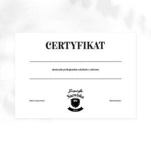 certyfikat dla barbera
