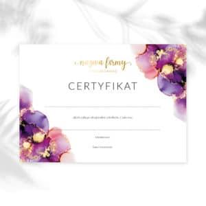 certyfikaty na warsztaty złote plamy