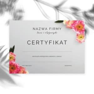 certyfikaty ukończenia szkolenia w peonie