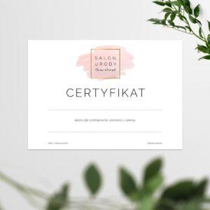 certyfikaty na szkolenia do studia fryzur
