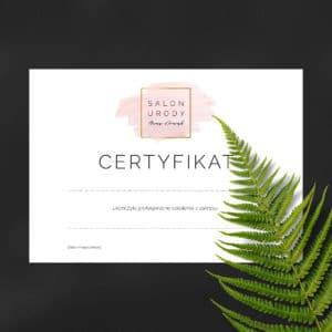 certyfikaty ukończenia szkolenia z różową plamą