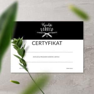 certyfikaty na szkolenia dla barberów srebrne