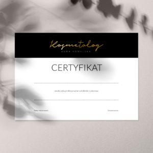 certyfikaty ukończenia szkolenia złote logo