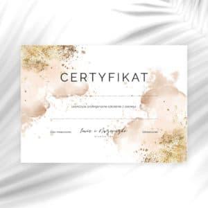 certyfikaty na szkolenia w abstrakcyjne wzory