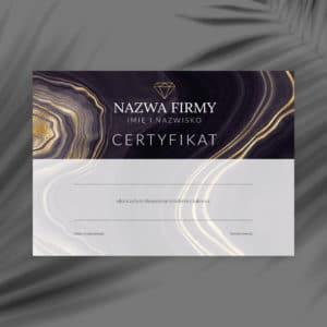 certyfikat na szkolenia z diamentem i agatem
