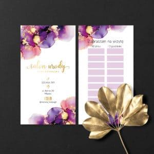 karteczki następna wizyta dla kosmetologa fioletowe plamy