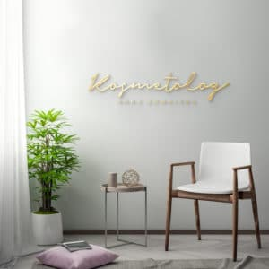 logotyp 3D na ścianę do centrum urody
