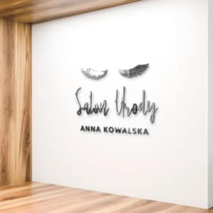 logo 3d na ścianę dla makeup artist