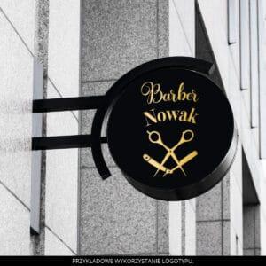 złote logo barber shop