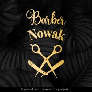 logo barber glamour