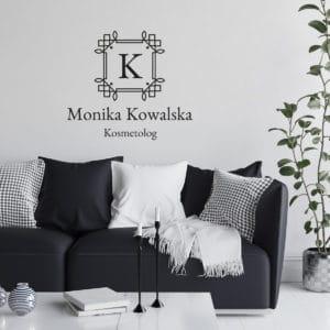 logotyp dla makijażystki na ścianę