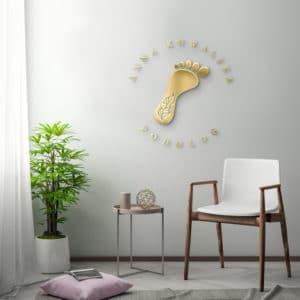 logotyp 3d na ścianę dla podologa