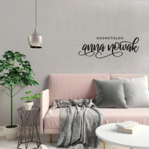 logotyp na ścianę do salonu urody