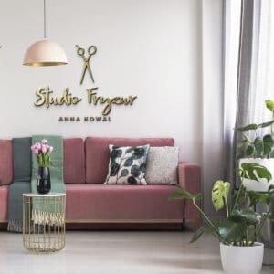 logotyp 3d na sciane dla kosmetologa