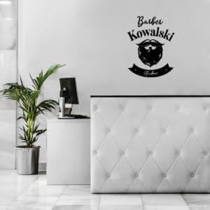 samoprzylepne logo na ścianę barber shop