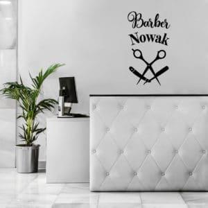 logotyp na ścianę barber shop