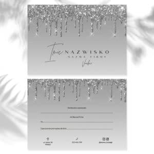 vouchery dla makeup artist srebrny brokat