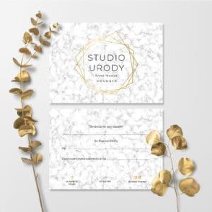vouchery dla stylistek paznokci złote logo