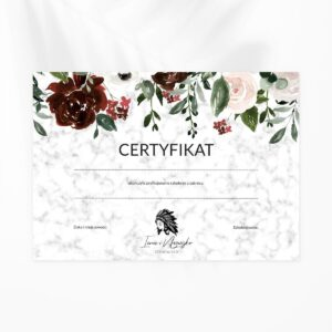 certyfikat dla kosmetyczki