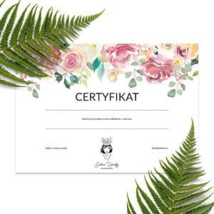 certyfikaty na szkolenia w stylu boho