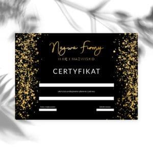 certyfikaty ukończenia szkolenia złote