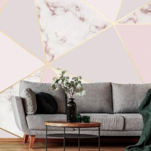 fototapeta do salonu kosmetycznego pastelowo różowy marmur