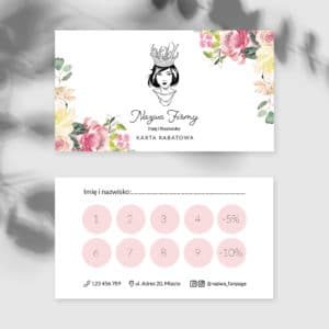 karty rabatowe dla makeup artist boho