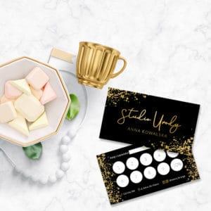 karty rabatowe do gabinetu kosmetycznego glamour