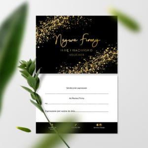 vouchery do gabinetu kosmetycznego złote logo