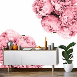 fototapeta-do-salonu-kosmetycznego z botanicznym wzorem