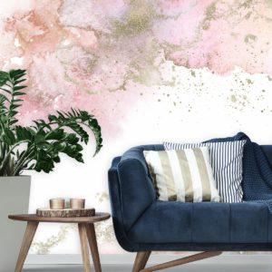 fototapeta-do-studia-fryzur z pastelowo-różową abstrakcją